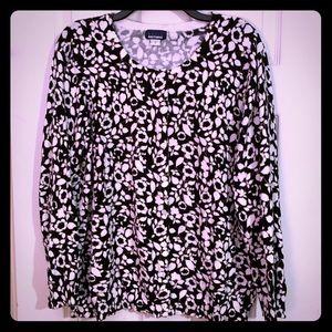 Black & White Floral Cardigan